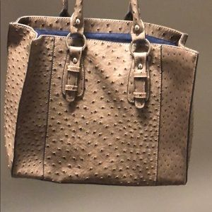Faux ostrich shoulder purse